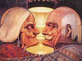 Old couple illusion illusion